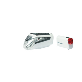 Trelock LS 560 I-GO CONTROL+LS 720 REEGO Akkubeleuchtung-Set weiß